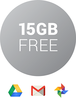 15 GB of free Google Drive storage logo