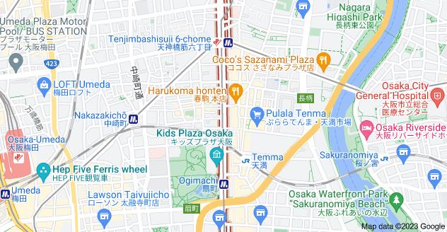 Map of Tenjin-bashi-suji, Ōsaka-shi, Ōsaka-fu, Japan